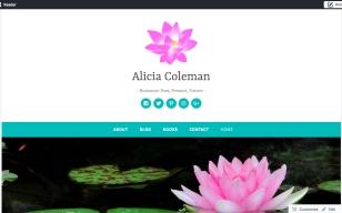 screen shot of wordpress site.