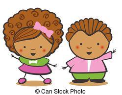 african-american-children-black-boy-and-illustration_csp45219222